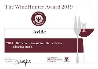 Riconoscimento: Diploma The WineHunter Award per i nostri Cerasulo di Vittoria